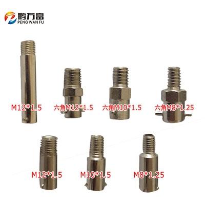 卡簧热电偶螺纹头 压簧电热偶固定压扣卡扣M8至M12六角