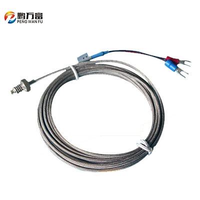 M6螺钉式 K型E热电偶温度温控探头 传感器感 测温线